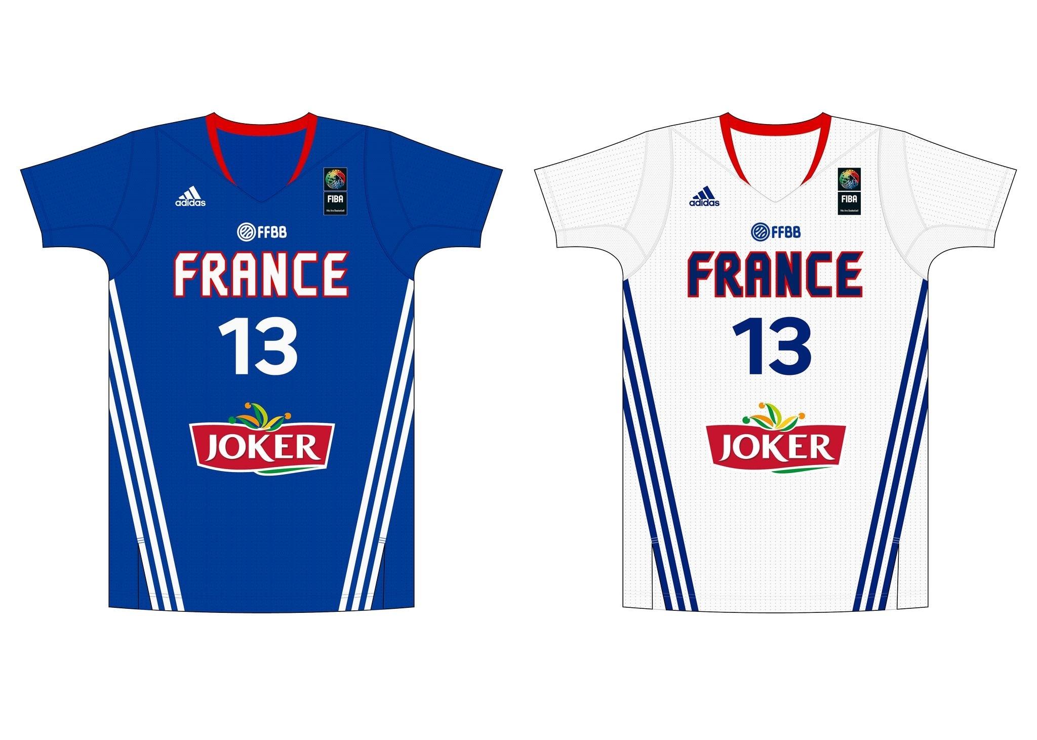 france national team jersey (fiba world championship 2014, spain