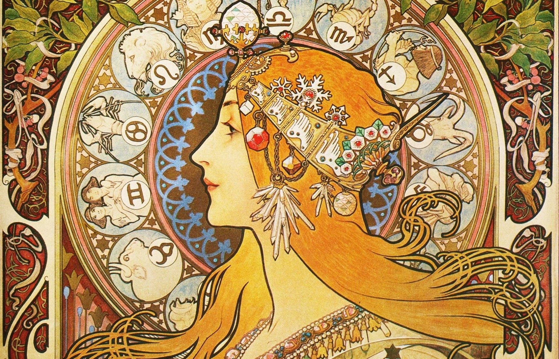 free art nouveau wallpaper photo « long wallpapers