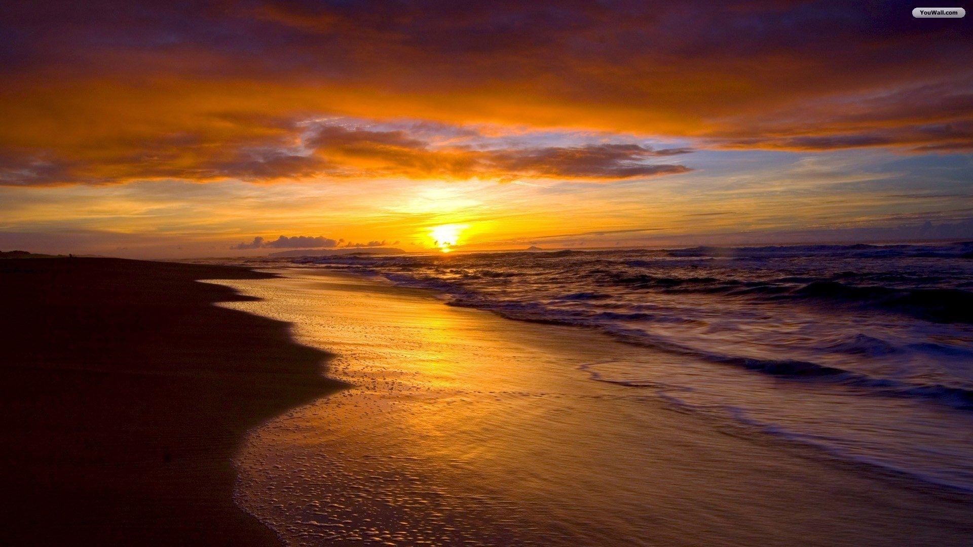 free beach sunset image « long wallpapers