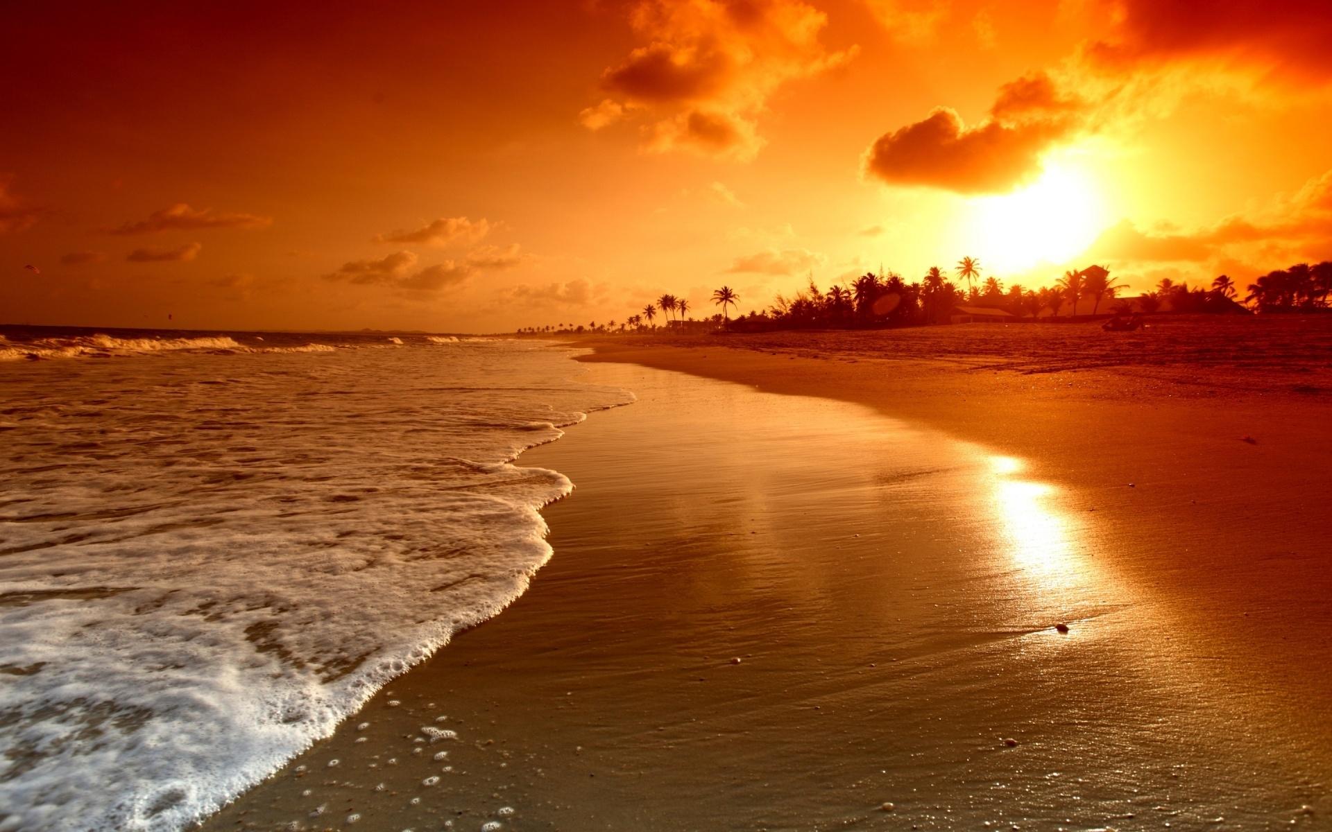 Title Free Beach Sunset Wallpapers Desktop Long Dimension 1920 X 1200 File Type JPG JPEG
