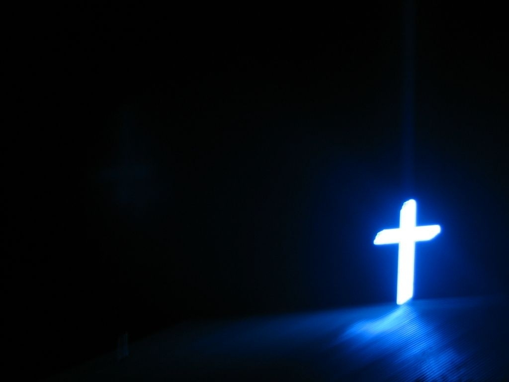 free blue cross on at a church backgrounds for powerpoint