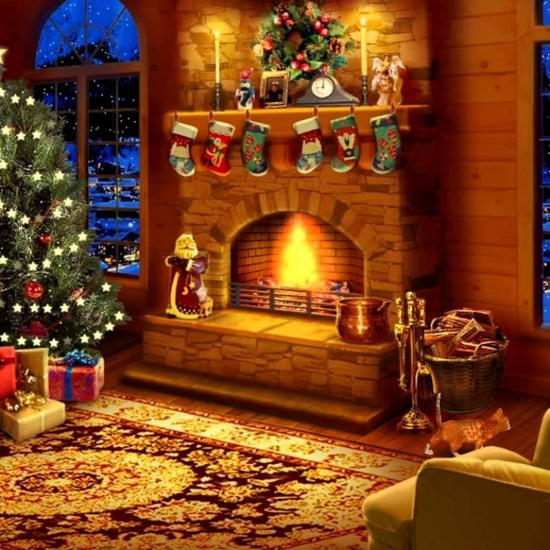 10 Latest Christmas Fireplace Screensaver Free FULL HD 1080p For PC Background 2021 free download free christmas fireplace screensavers happy holidays 800x800