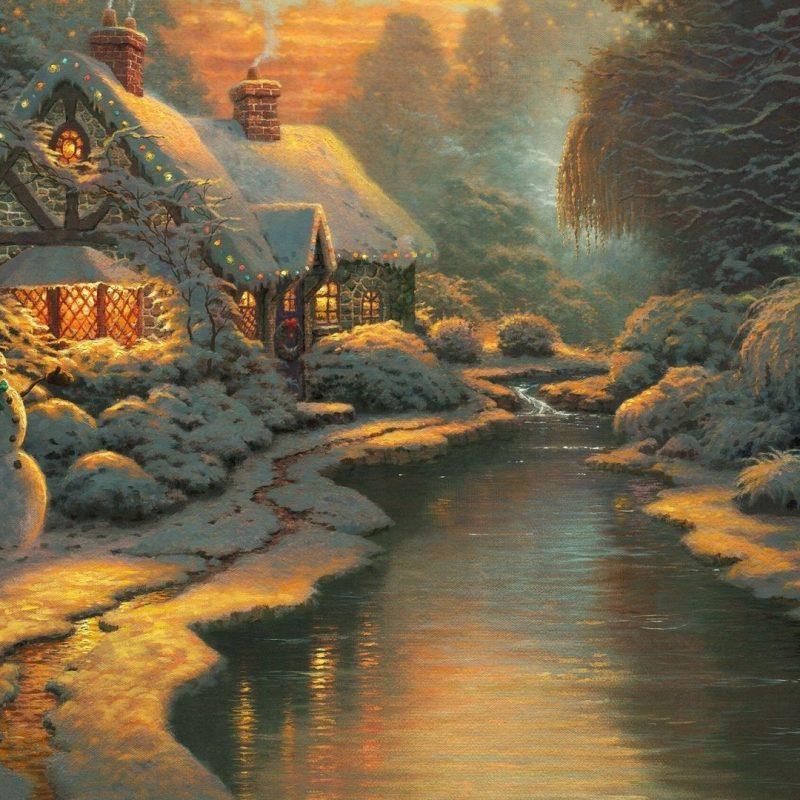 10 Best Free Thomas Kinkade Christmas Screensavers FULL HD 1920×1080 For PC Background 2020 free download free christmas screensavers bozic nova godina bozicni ukrasi 800x800