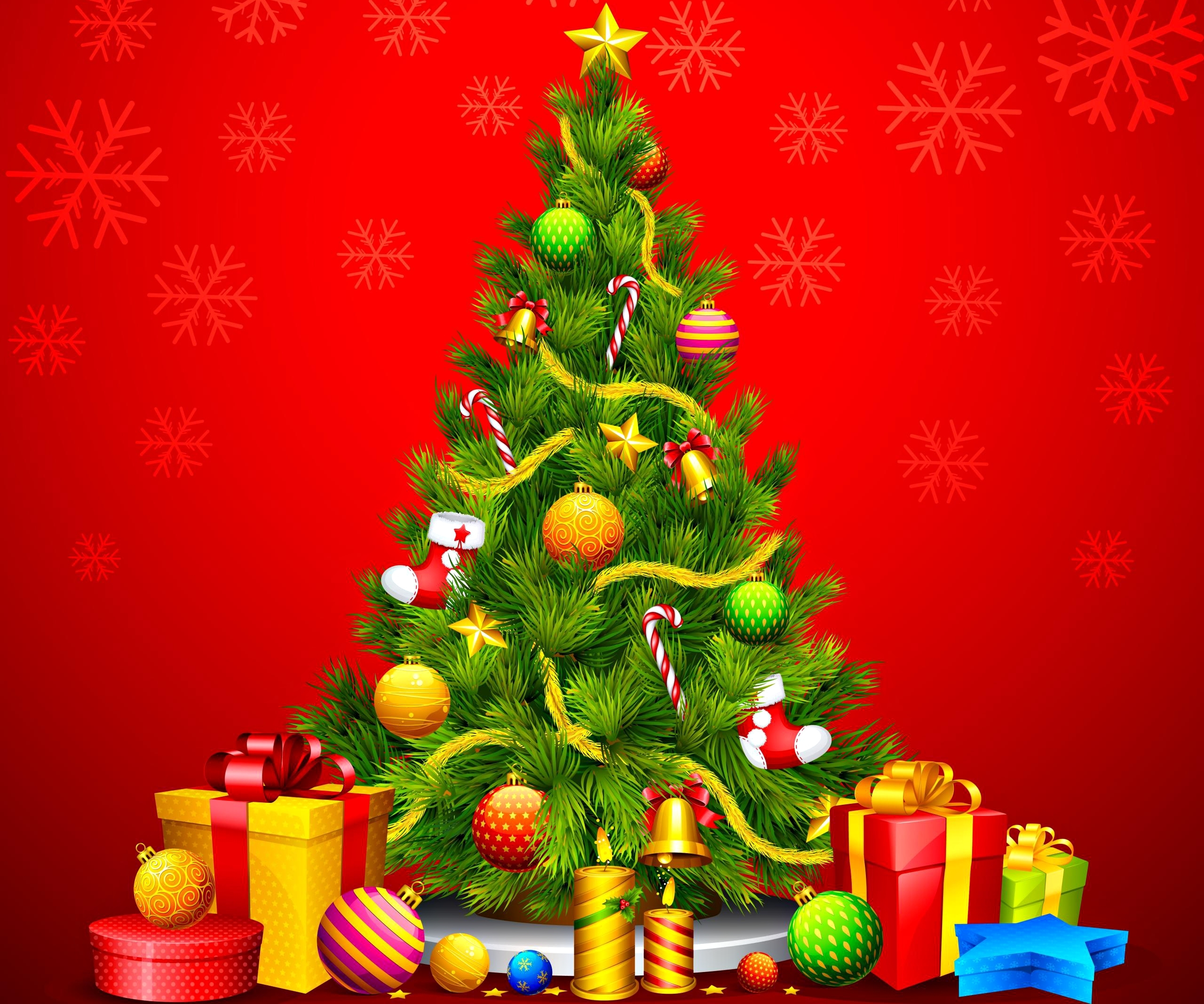 free christmas tree wallpaper wide « long wallpapers