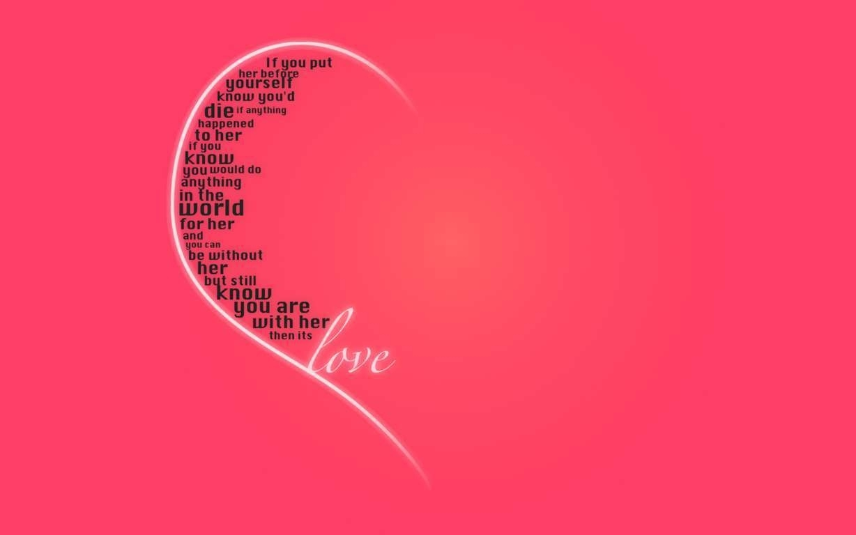 free cute love quote wallpapers background « long wallpapers