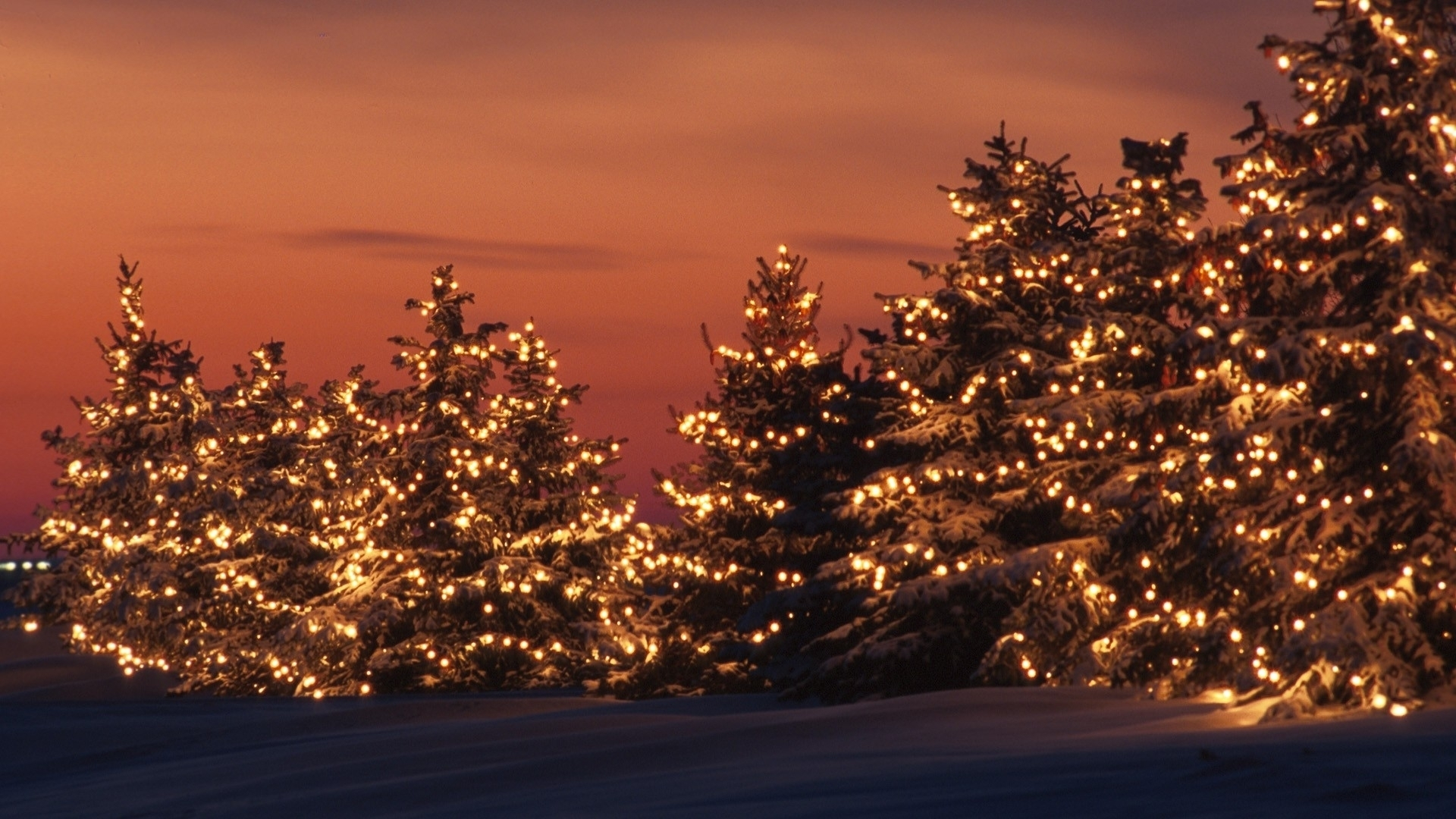 free desktop christmas lights wallpapers winter. - media file