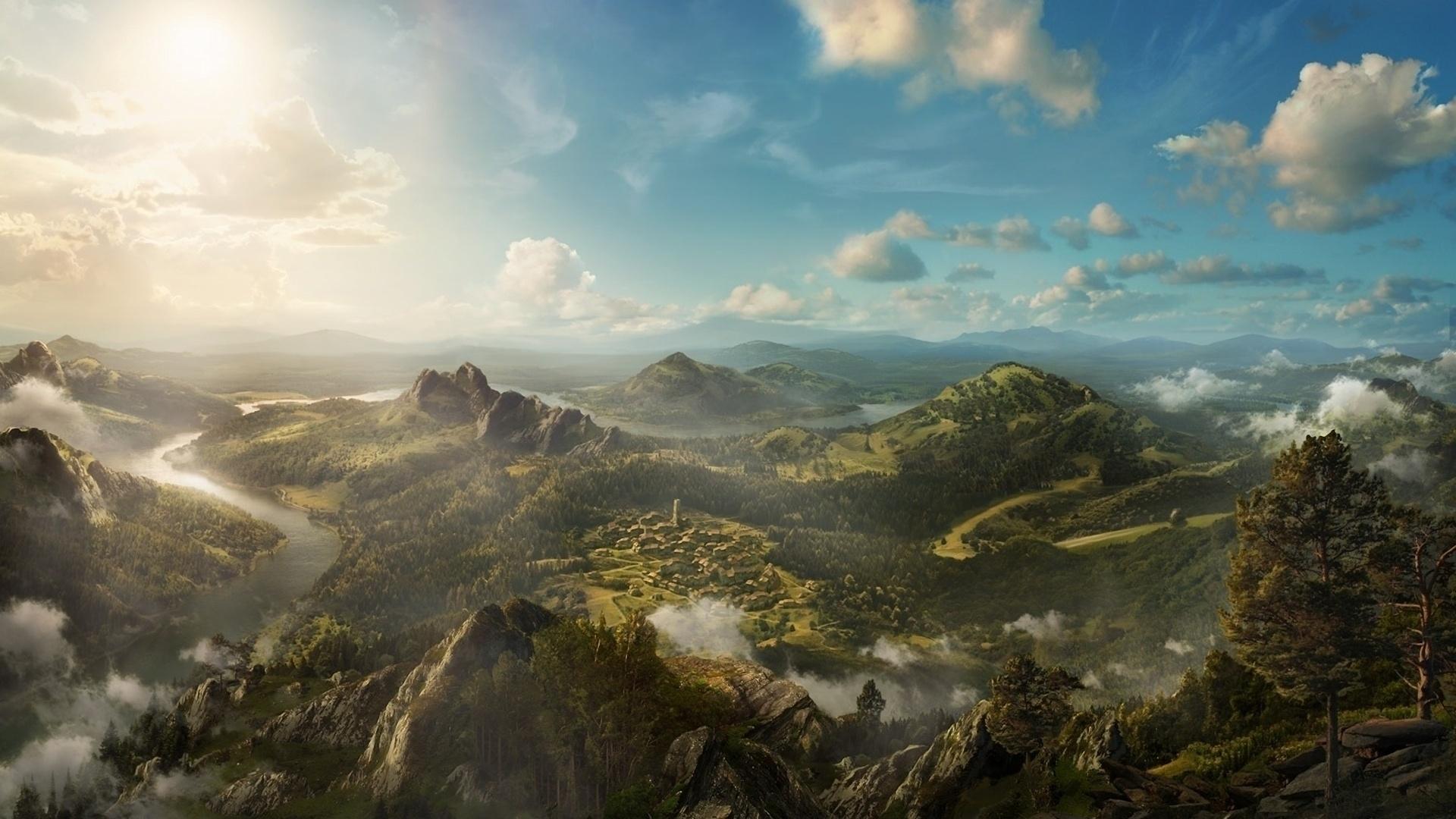 free fantasy landscape wallpaper widescreen « long wallpapers
