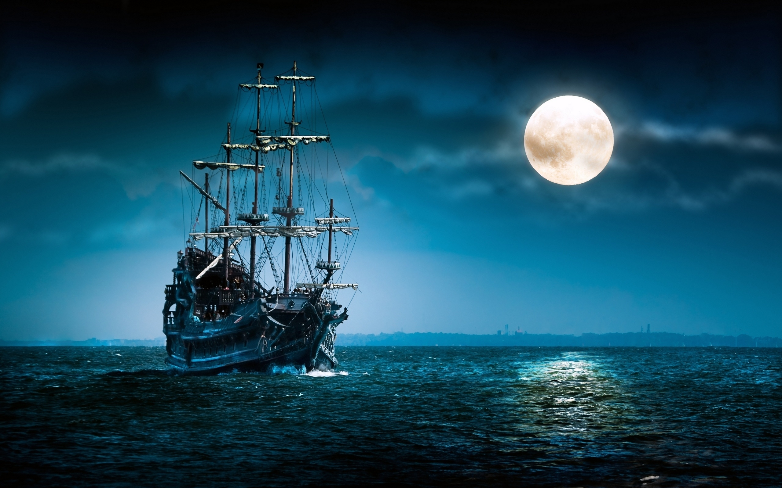free ghost pirate ship wallpaper phone « long wallpapers