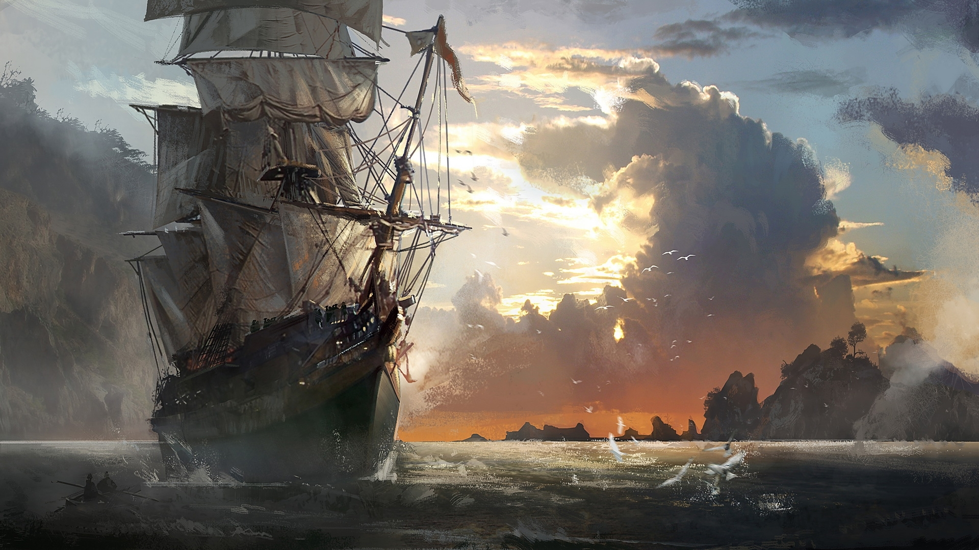 free ghost pirate ship wallpapers hd « long wallpapers