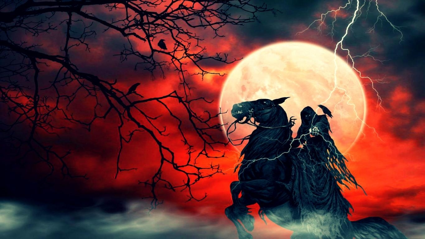 free grim reaper on horse wallpaper high quality resolution « long