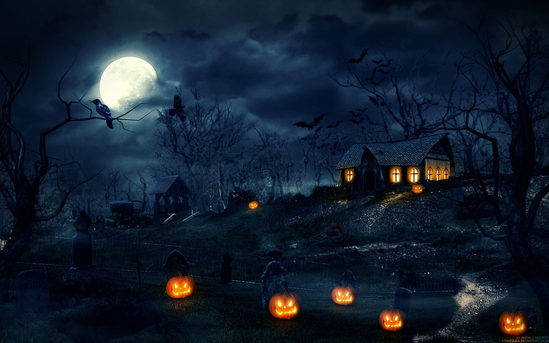 free halloween wallpaper widescreen « long wallpapers