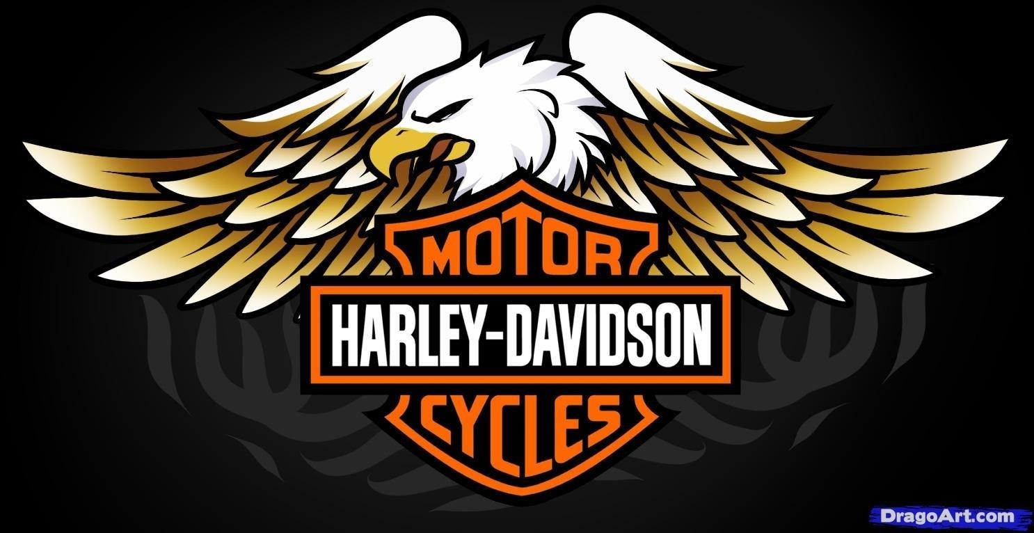 free harley davidson logos | how to draw harley-davidson logo
