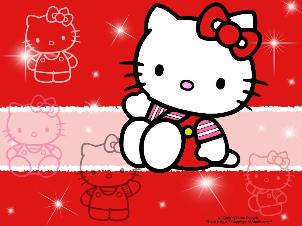 free hello kitty screensaver wallpaper | the free hello kitty