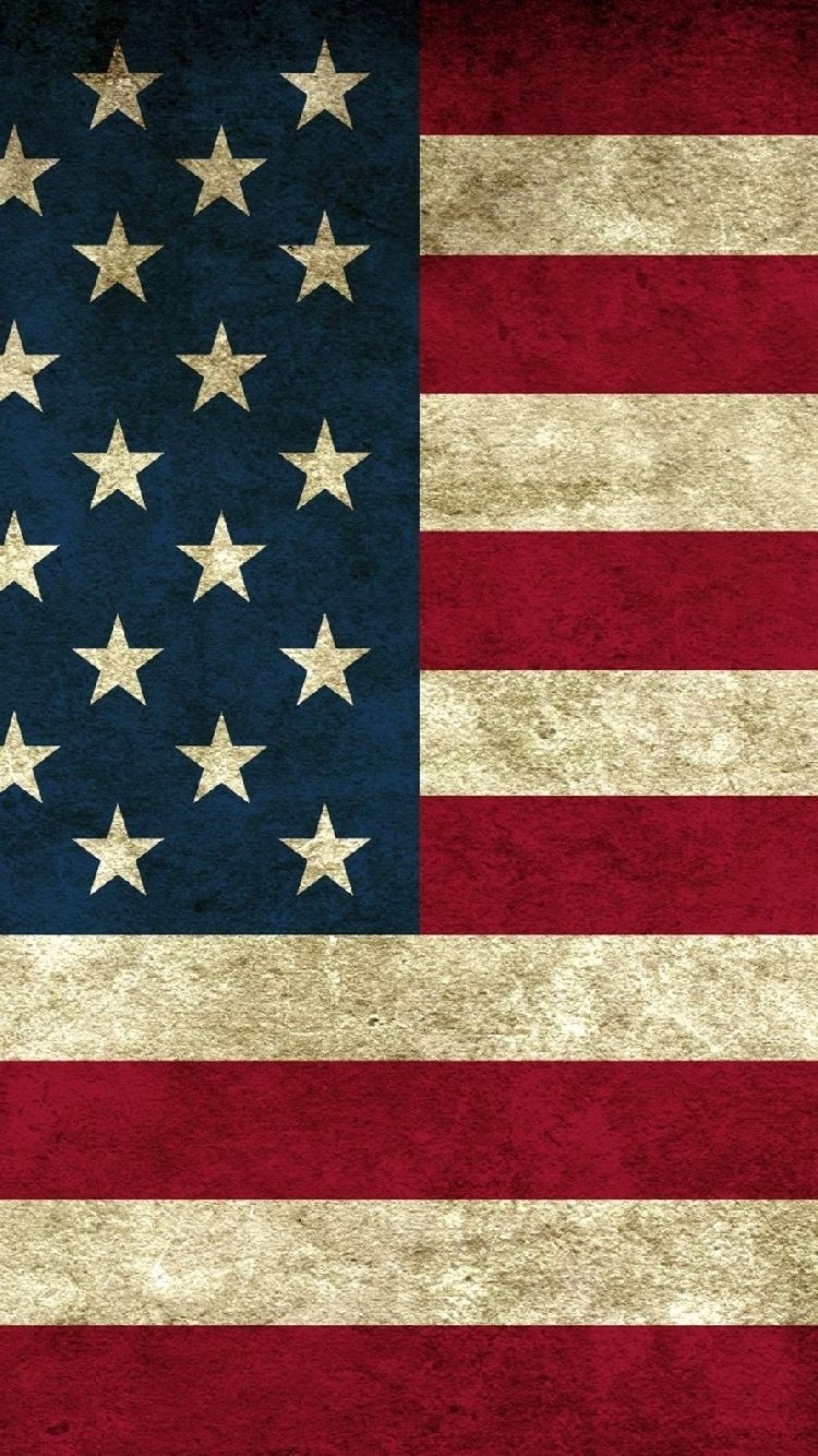 free iphone 5 wallpaper for your iphone: usa vintage flag