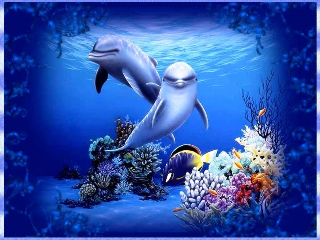 free moving dolphin screensavers | 3d moving wallpapers for desktop