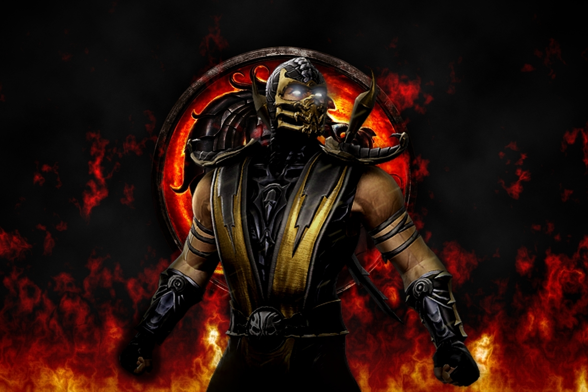 free scorpion mortal kombat wallpaper 32726 1200x800 px