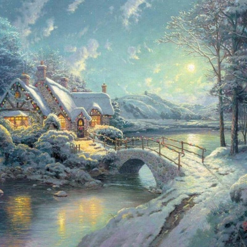 10 Most Popular Thomas Kinkade Winter Wallpaper FULL HD 1080p For PC Background 2018 free download free thomas kinkade wallpapers for desktop wallpaper cave 4 800x800