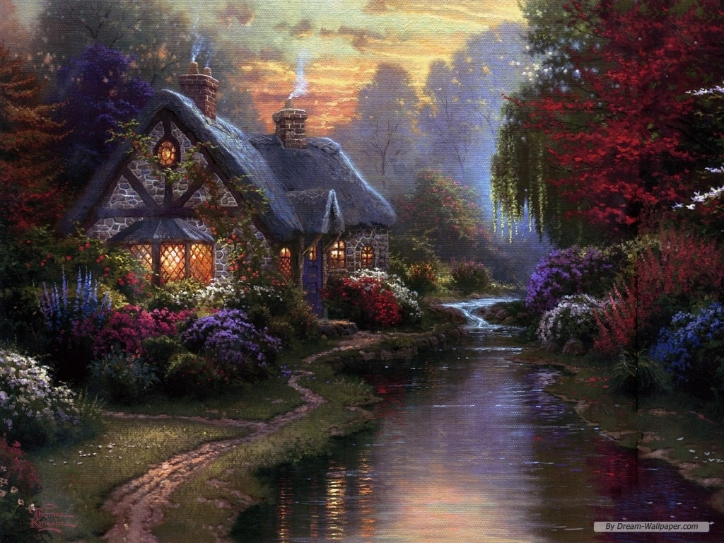 free wallpaper - free nature wallpaper - thomas kinkade wallpaper