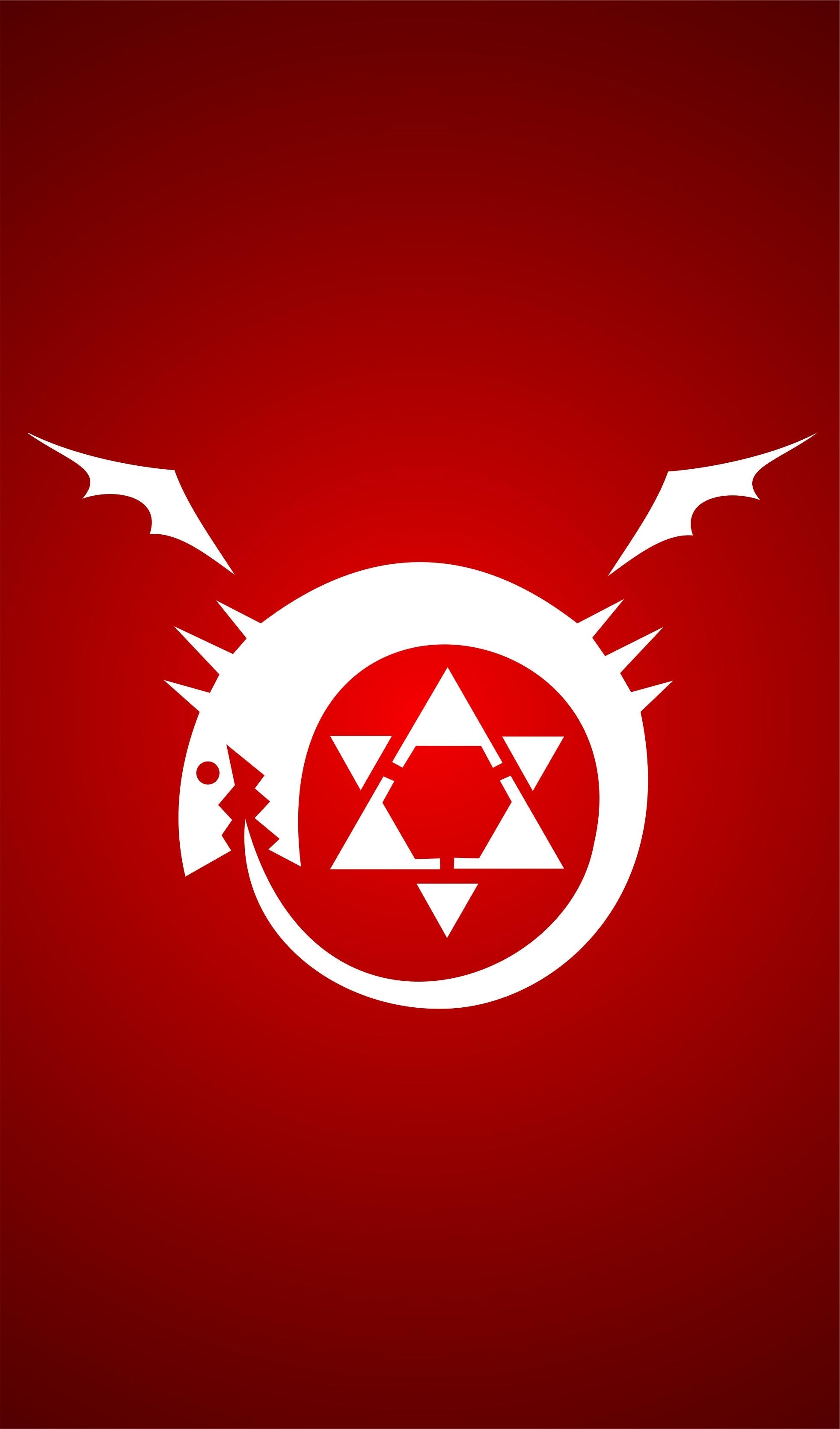fullmetal alchemist brotherhood - homúnculo -wallpapers iphone