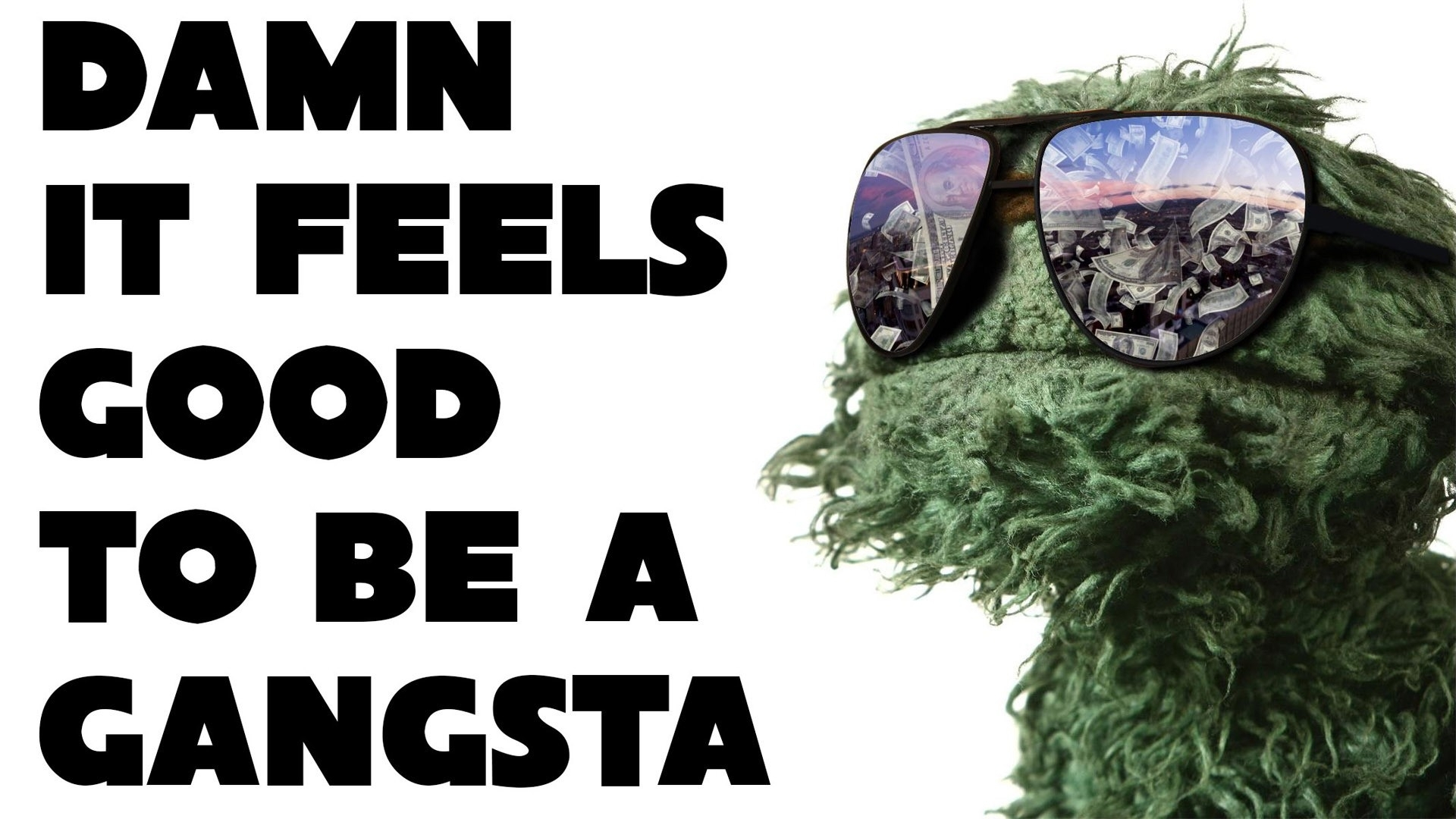funny: gangsta oscar grouch sesame street cool wallpapers 1920x1080
