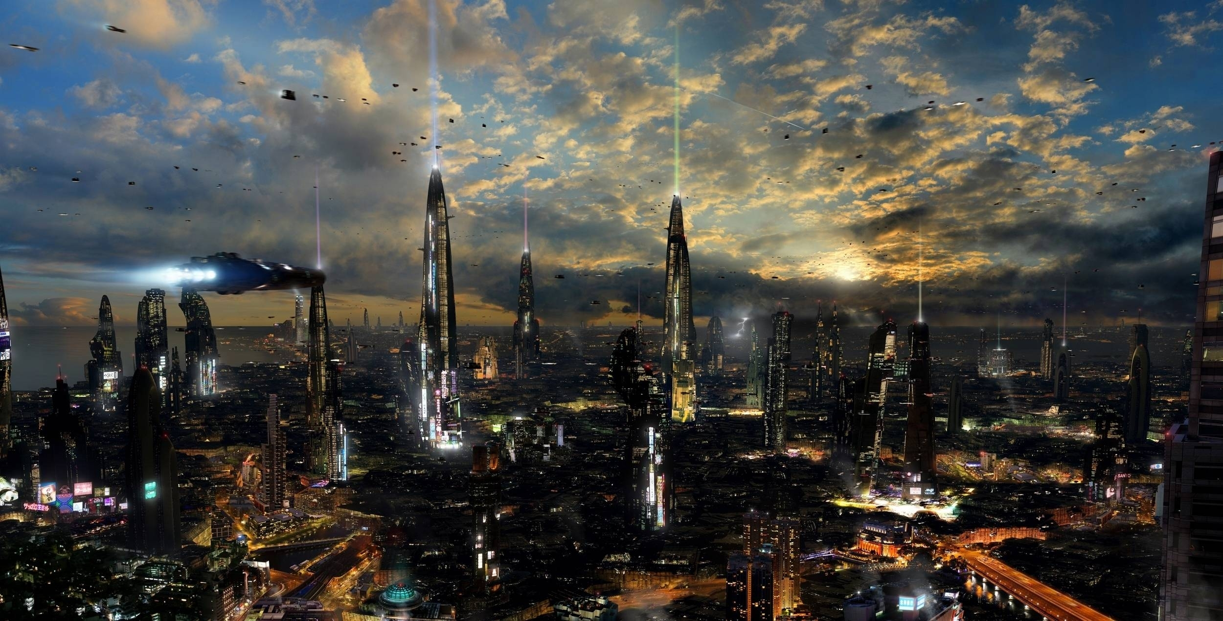 10 Top Futuristic City Hd Wallpaper FULL HD 1080p For PC Desktop