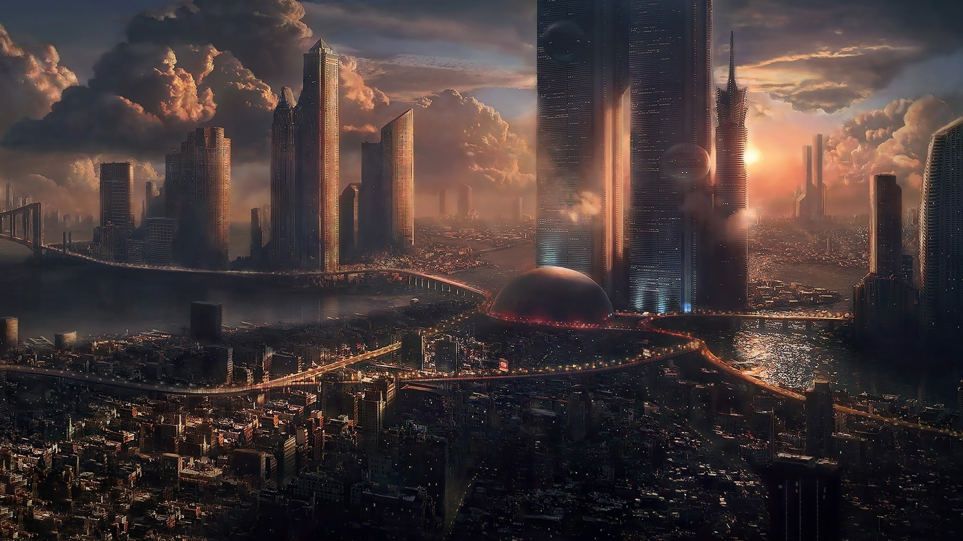futuristic city wallpaper 1920x1080 (75+ images)