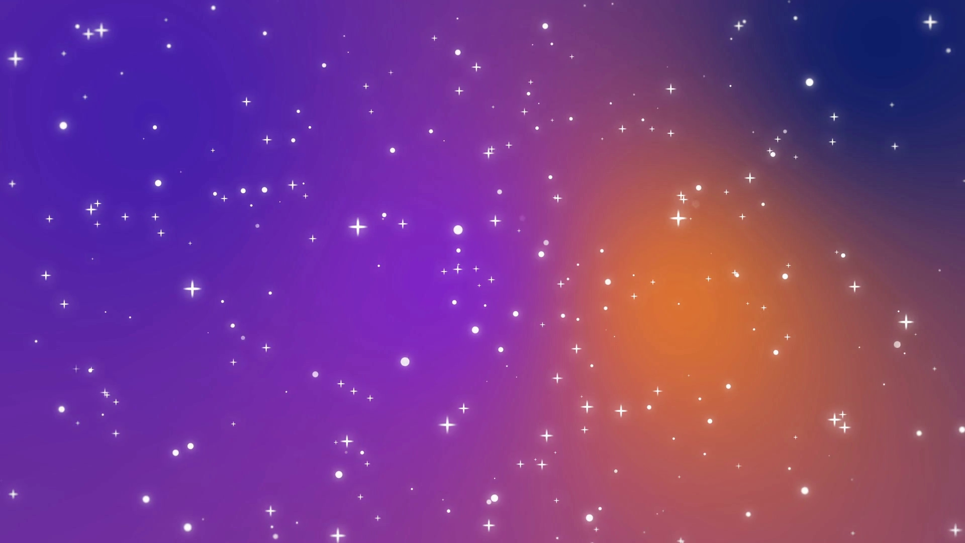galaxy animation with shining light particle stars on colorful
