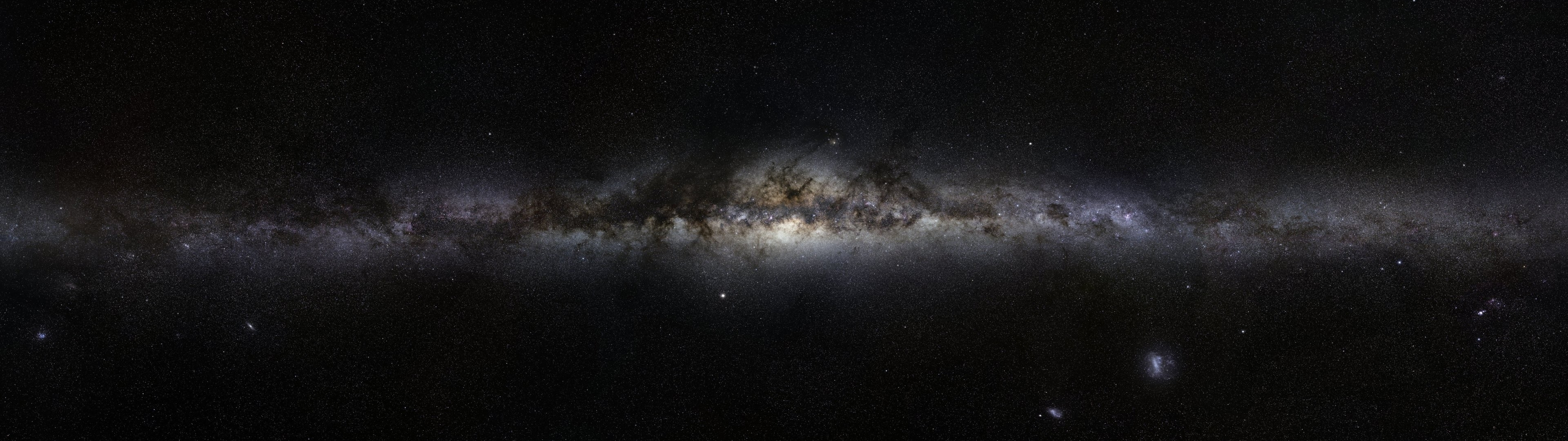 galaxy dual screen wallpaper | 3840x1080 | id:43352