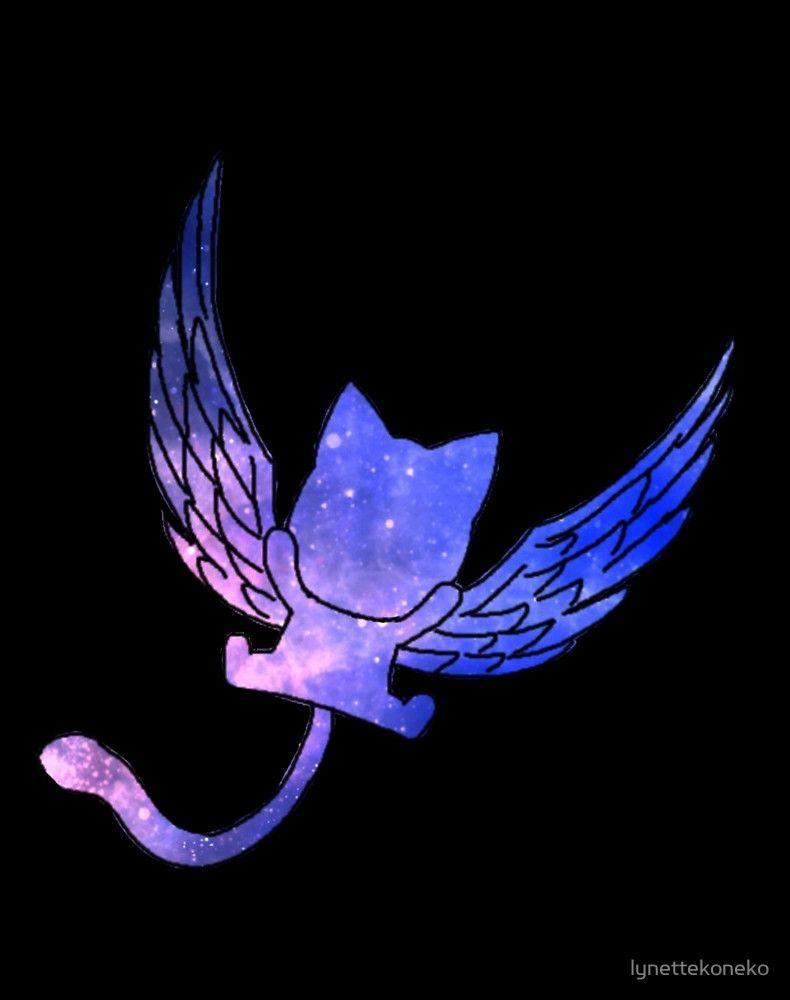 "galaxy fairy tail logo design""lynettekoneko | redbubble"
