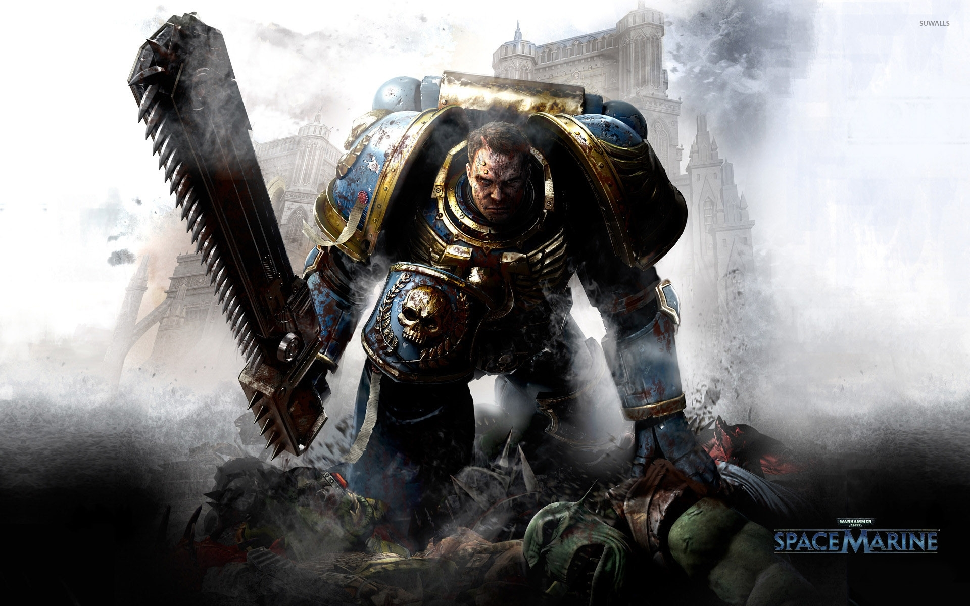 games warhammer 40k space marine wallpapers (desktop, phone, tablet