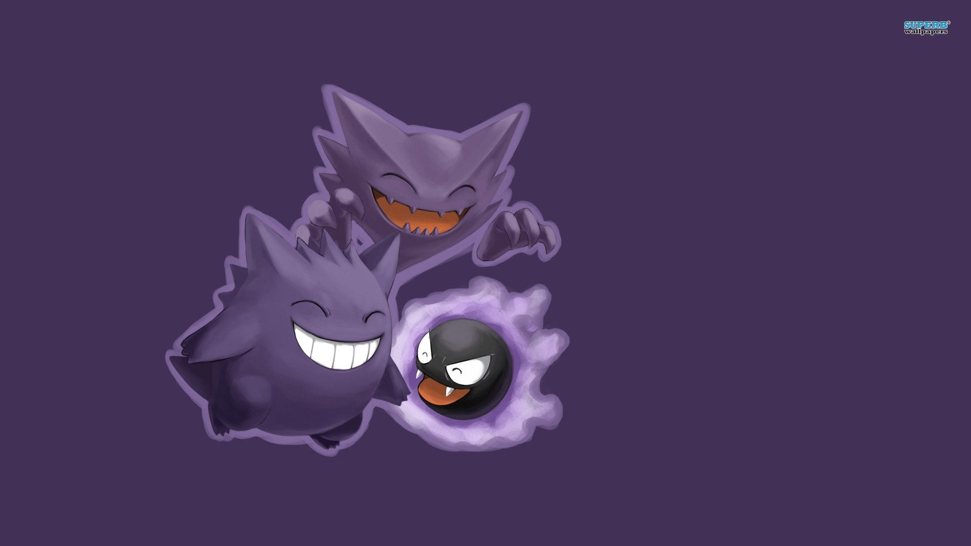 gastly haunter and gengar - pokemon - walldevil