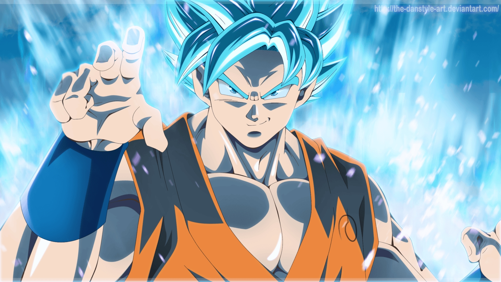 goku blue wallpapers - wallpaper cave