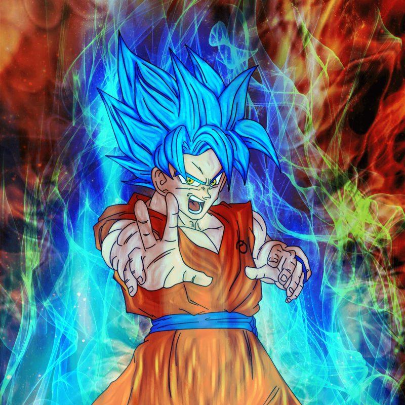 Dragon Ball Super Wallpaper 1080p Full Size: Goku Super Saiyan Blue Wallpaper Hd
