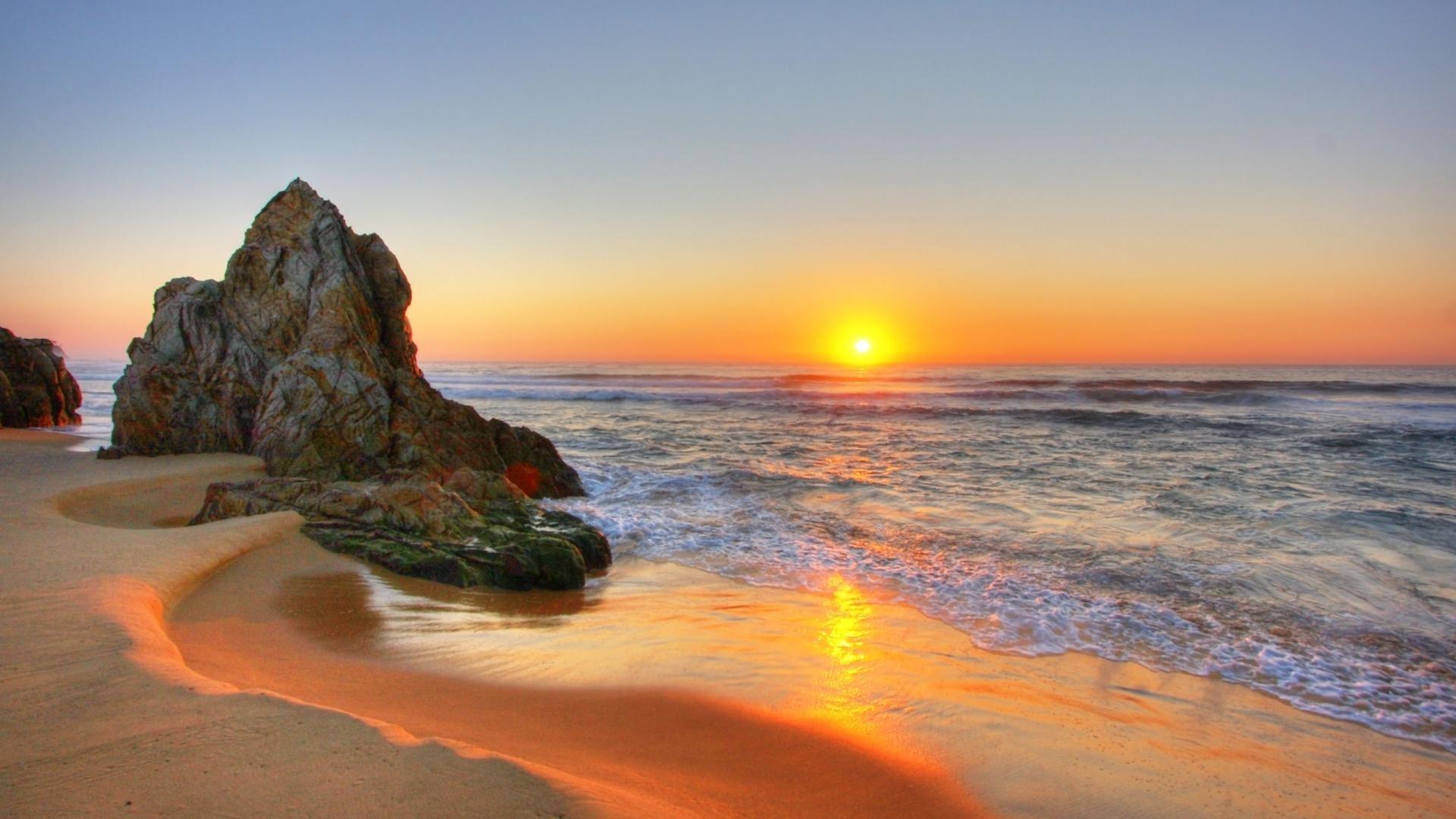 golden sunset beach wallpaper pc wallpaper | wallpaperlepi