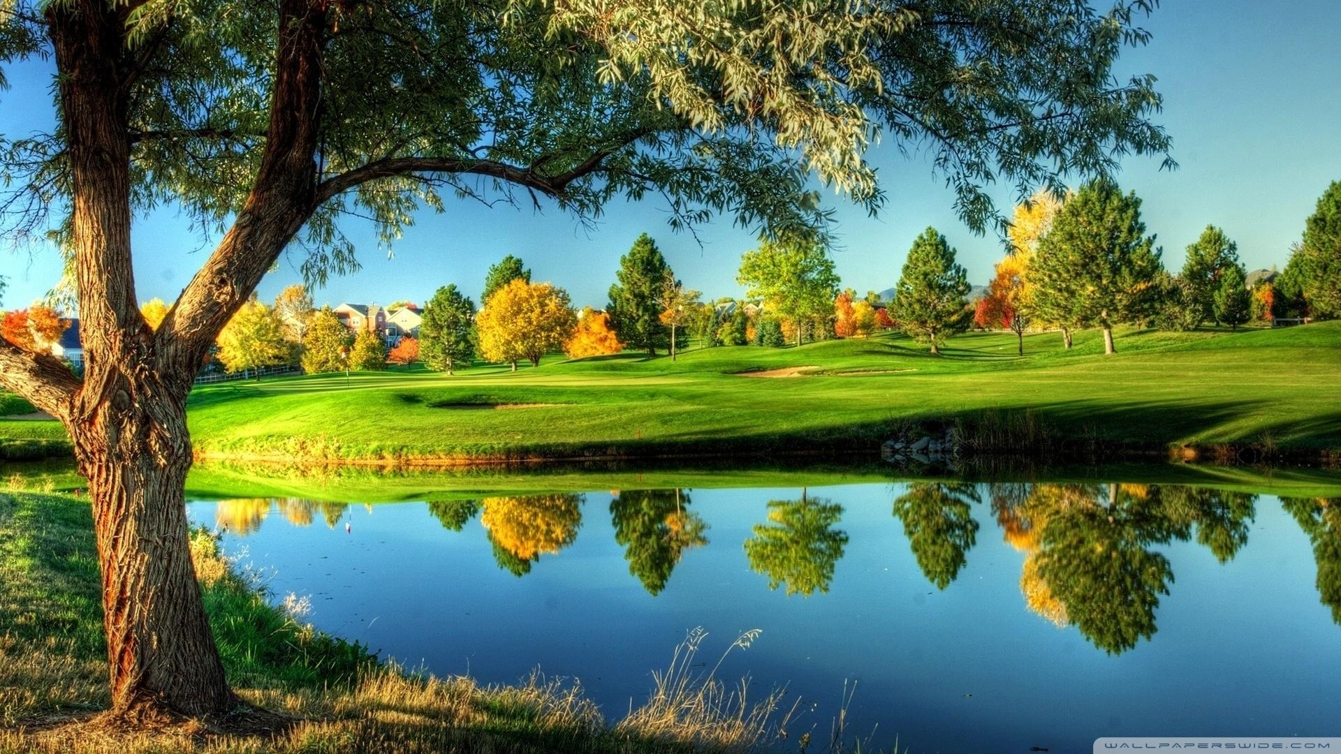 golf course landscape ❤ 4k hd desktop wallpaper for 4k ultra hd tv