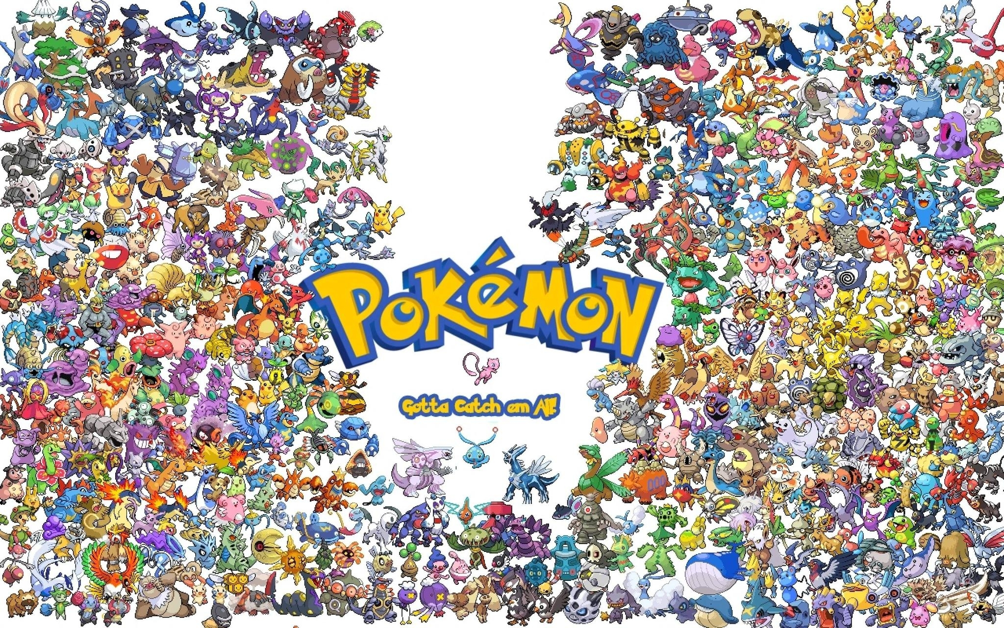 gotta catch them all - pokemon wallpaper