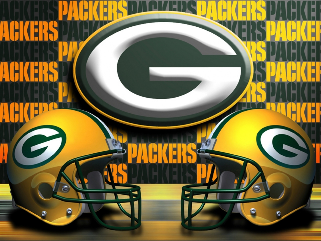 green bay packers double helmets 1280x960 photo