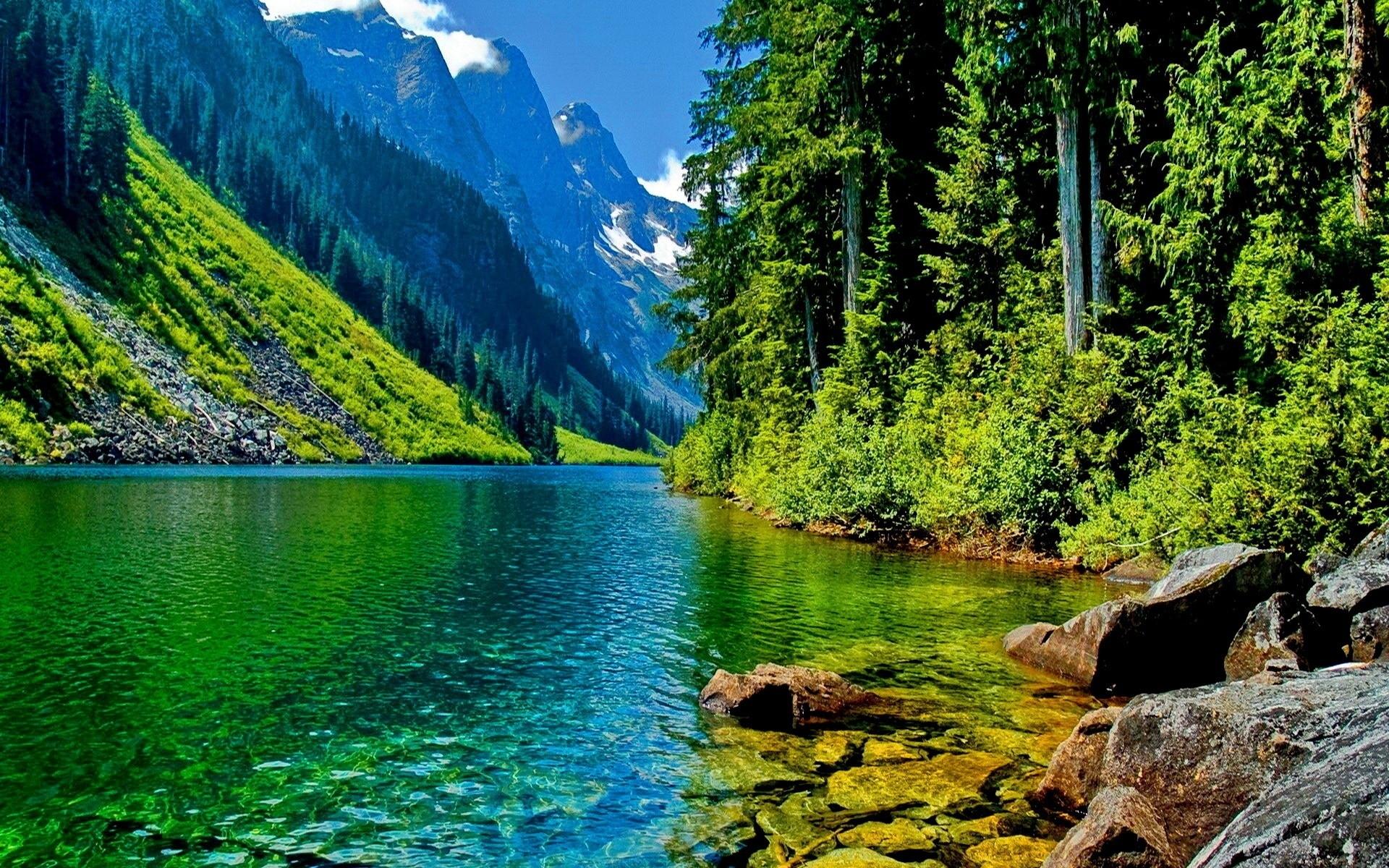 green mountain landscape wallpaper | hd desktop background