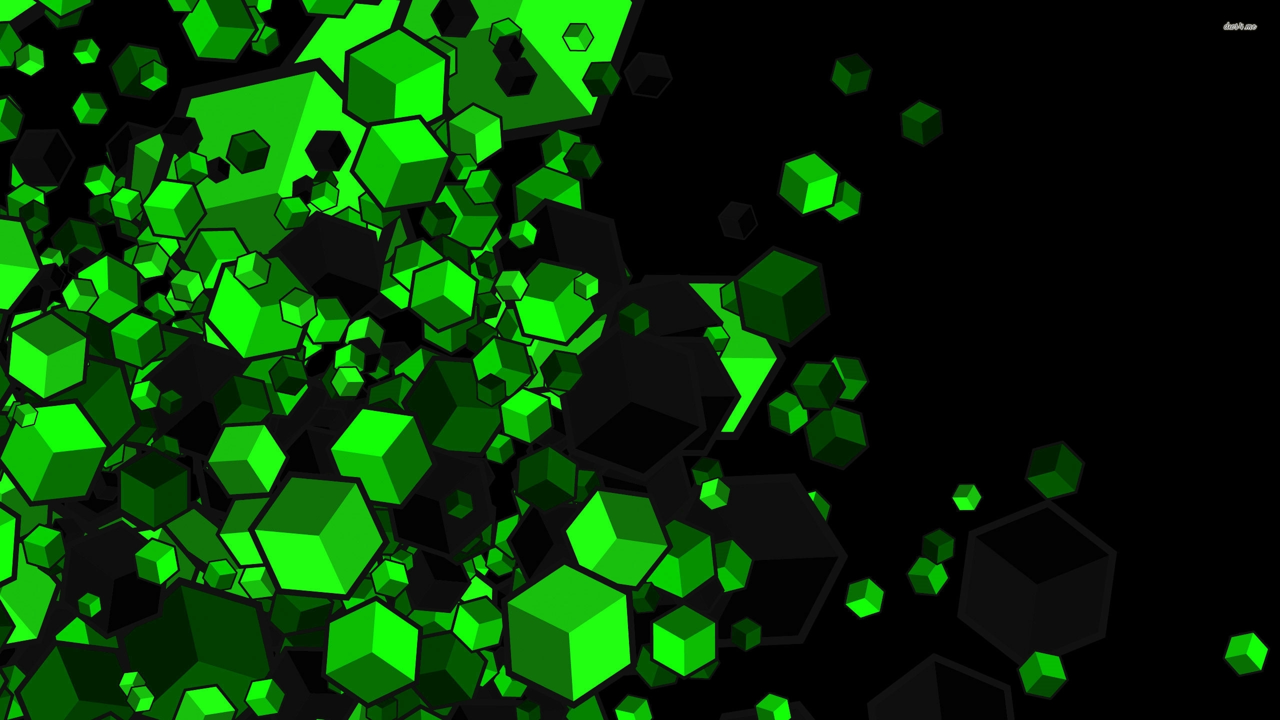 green or black cubes full hd fond d'écran and arrière-plan