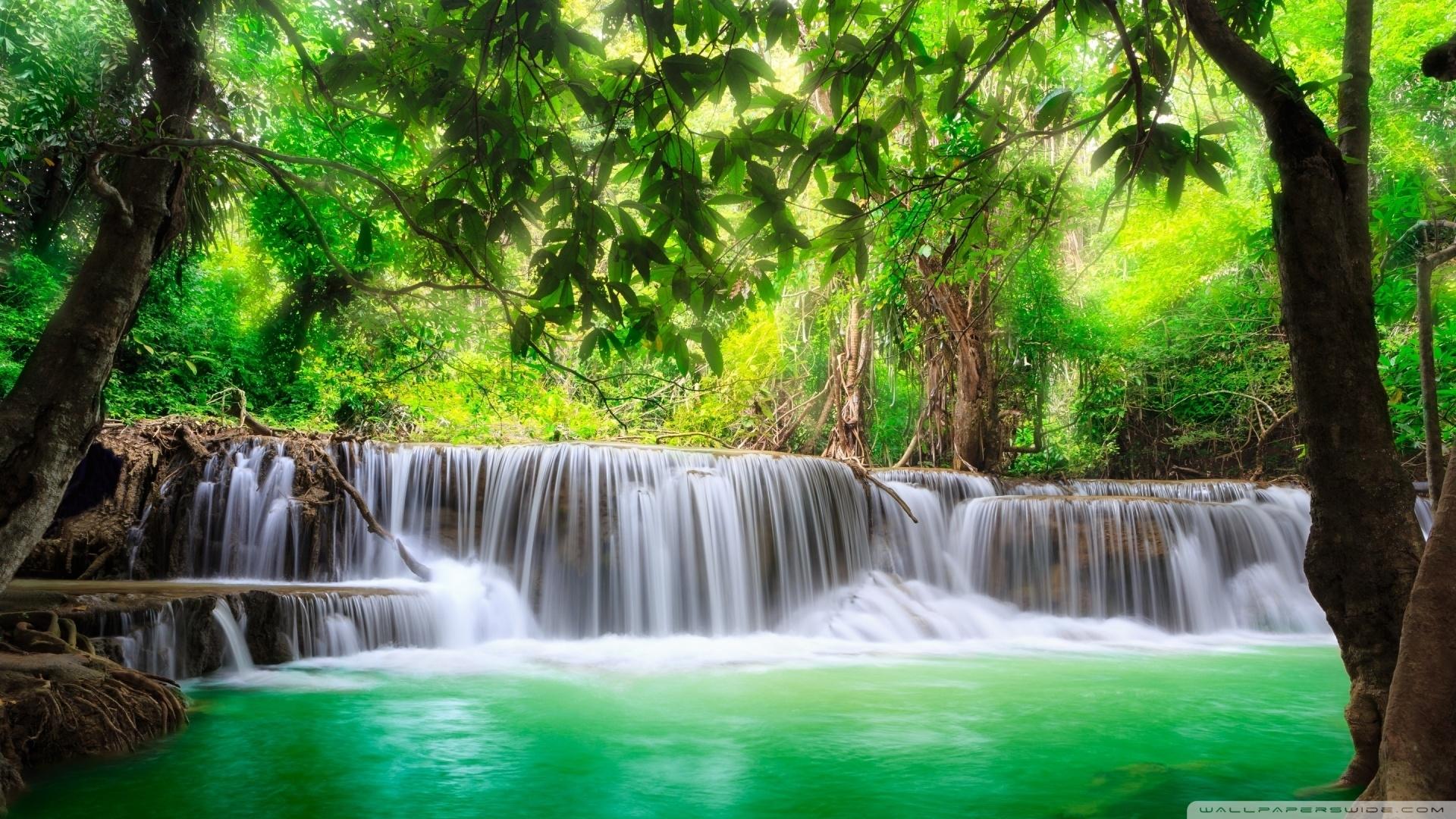 green tropical waterfall ❤ 4k hd desktop wallpaper for 4k ultra hd