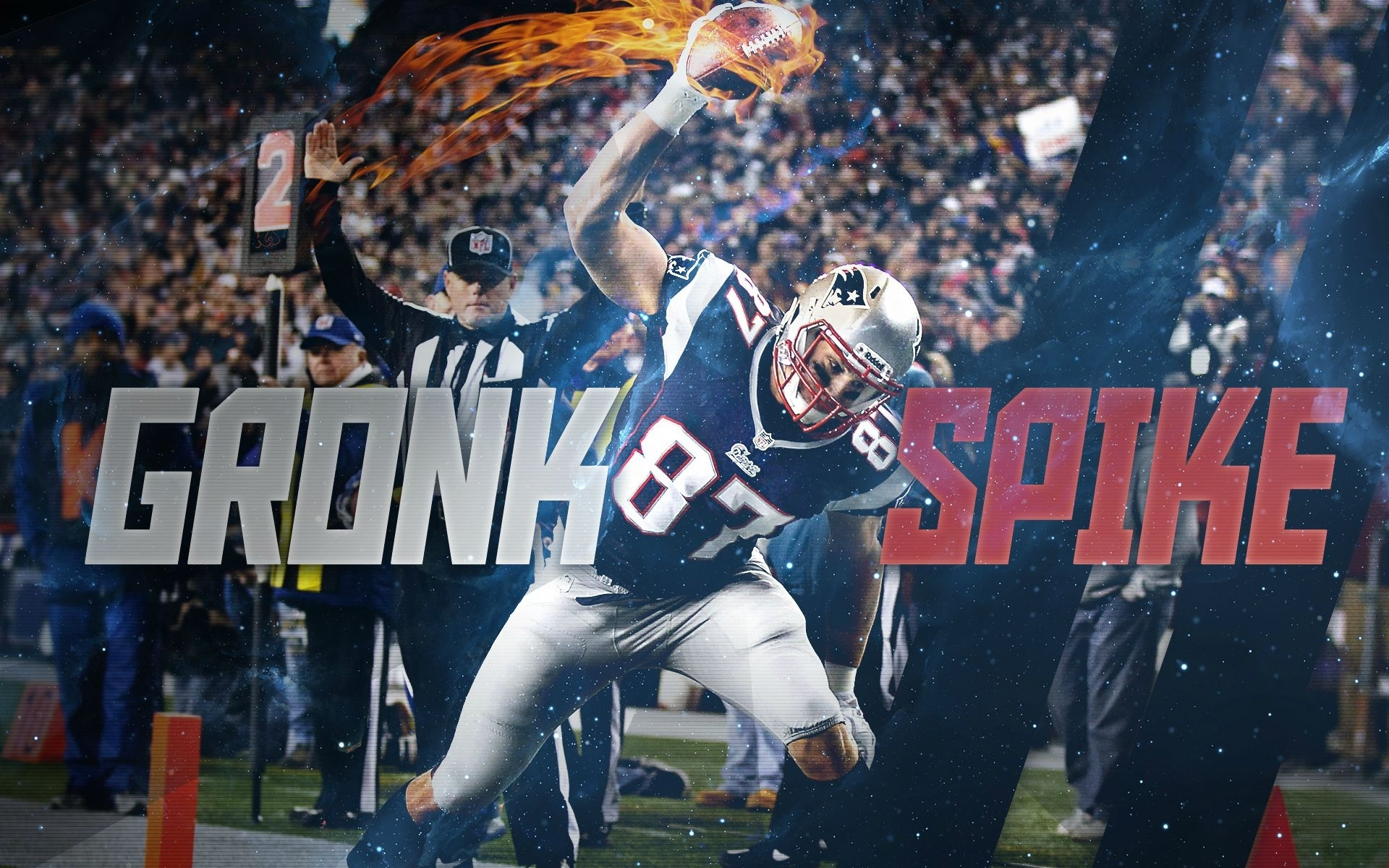 gronk spike - rob gronkowski patriots wallpaper 2015 on behance