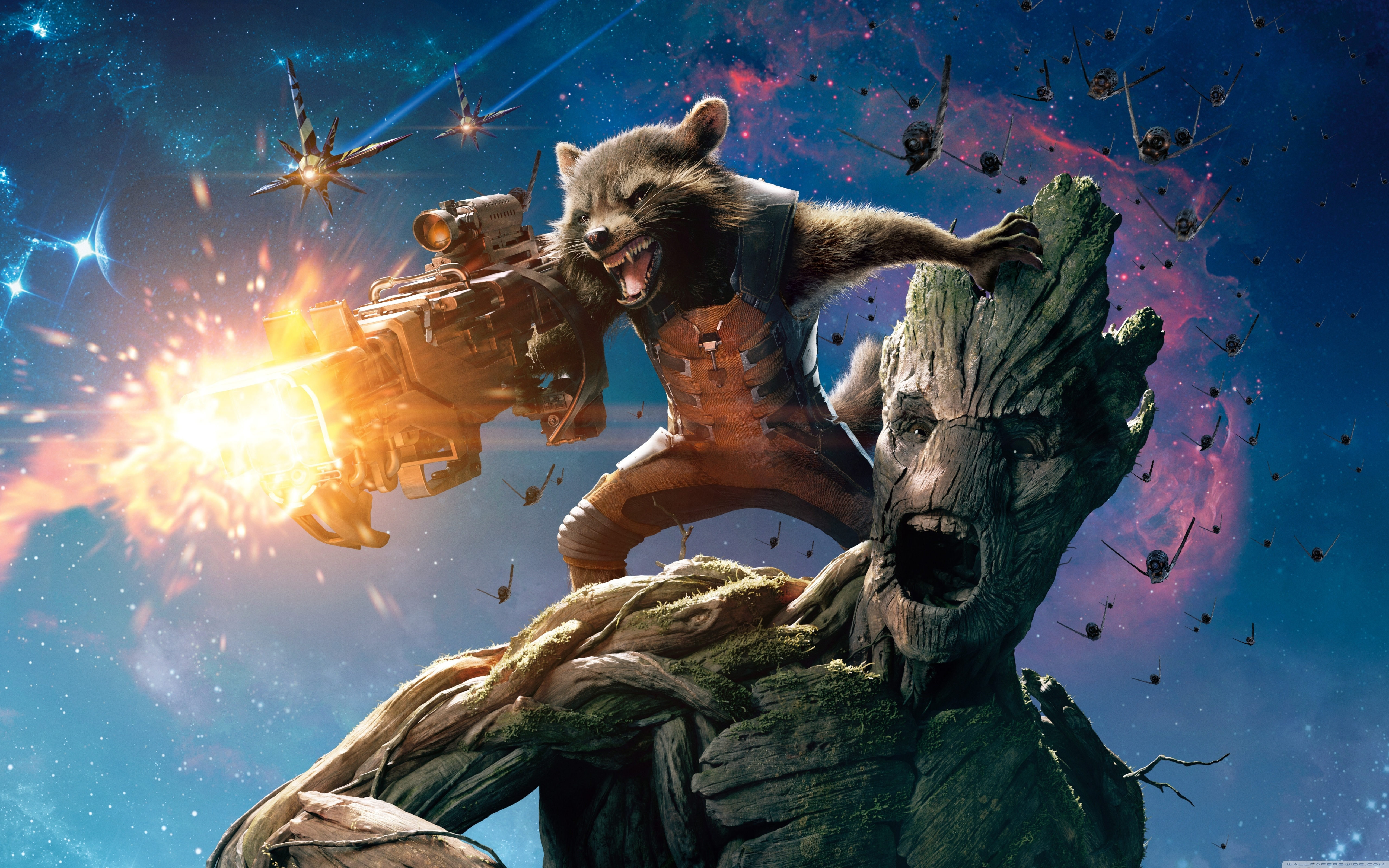 guardians of the galaxy groot and rocket raccoon ❤ 4k hd desktop