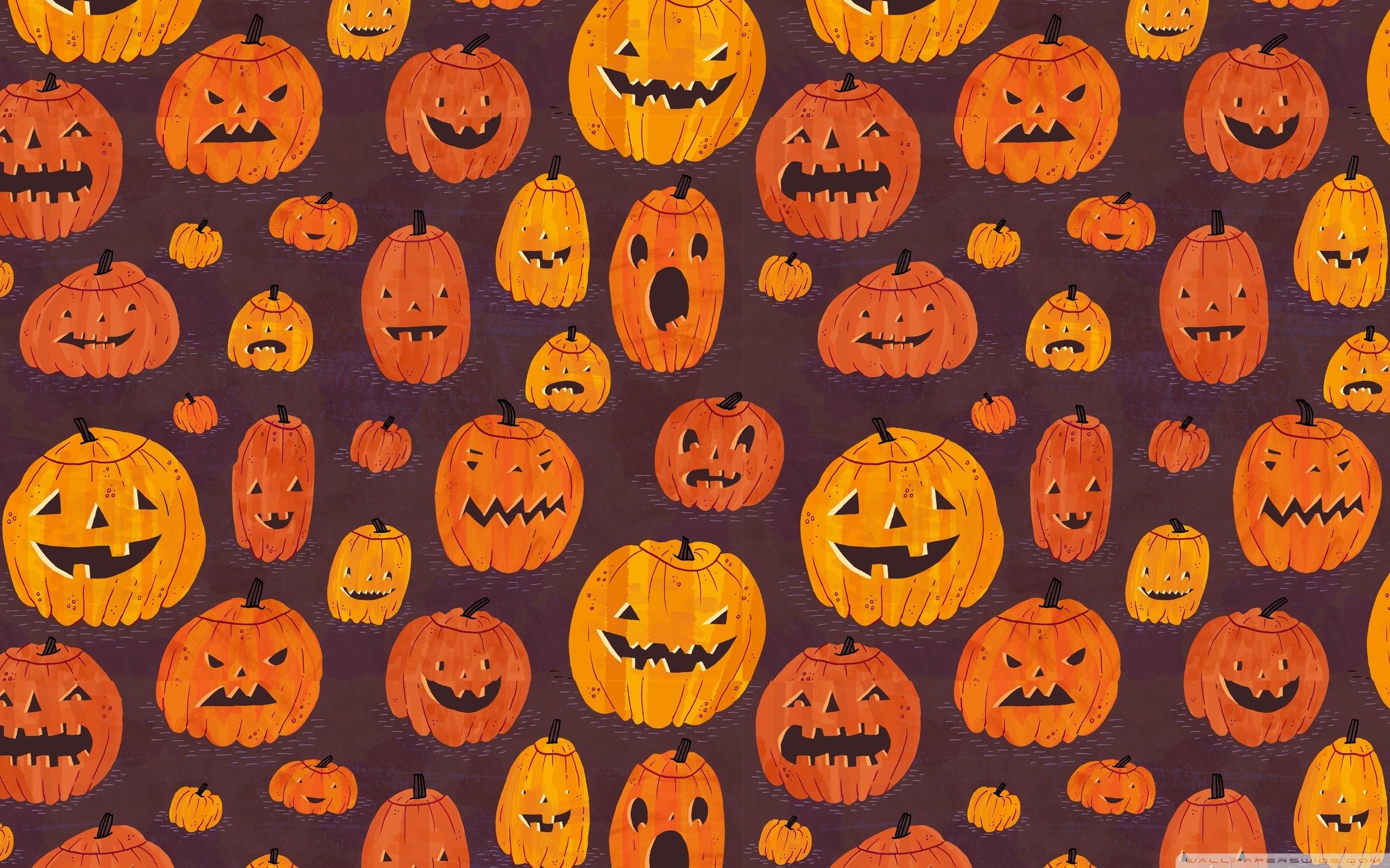 halloween pumpkins pattern ❤ 4k hd desktop wallpaper for 4k ultra