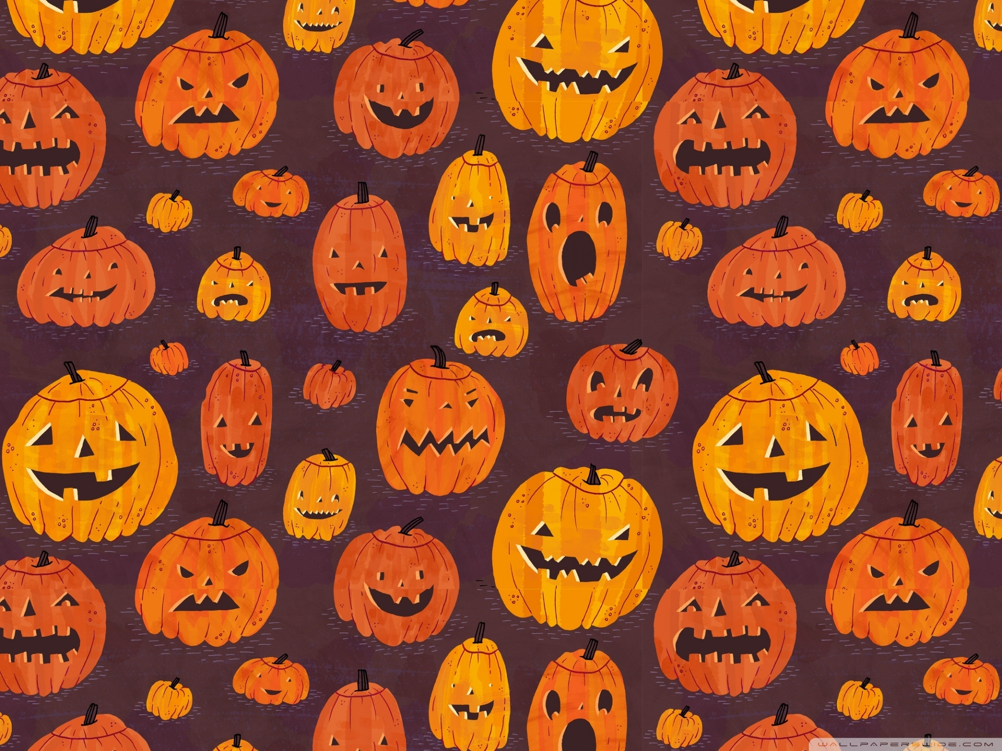 halloween pumpkins pattern ❤ 4k hd desktop wallpaper for 4k ultra