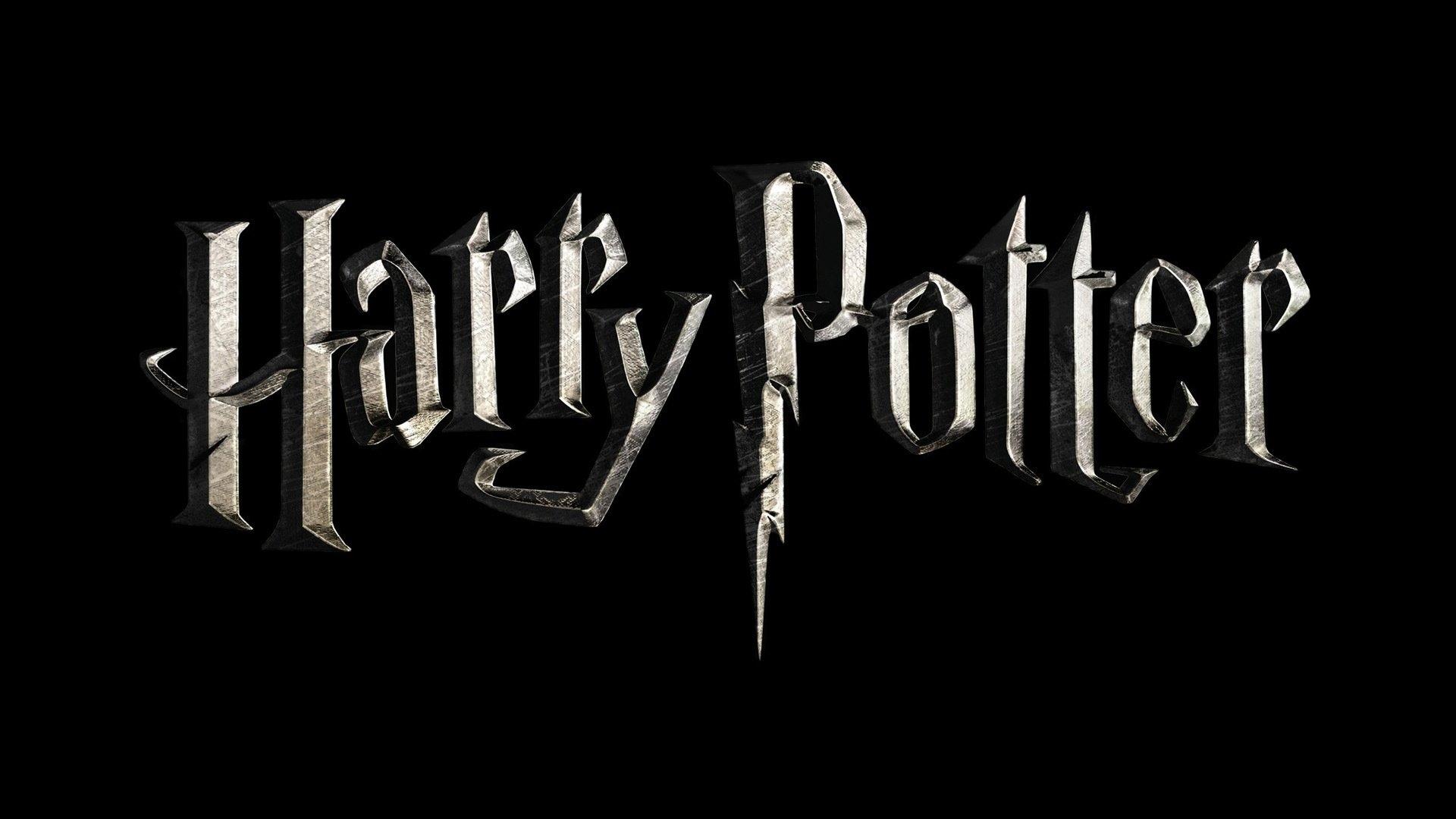 harry potter logo wallpaper harry potter widescreen gold logo