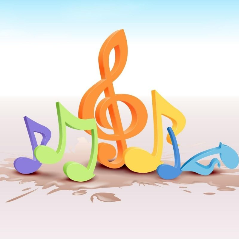 10 Most Popular 3D Colorful Music Notes Wallpaper FULL HD 1080p For PC Desktop 2018 free download hd 3d colorful treble clef music notes desktop wallpaper download 800x800