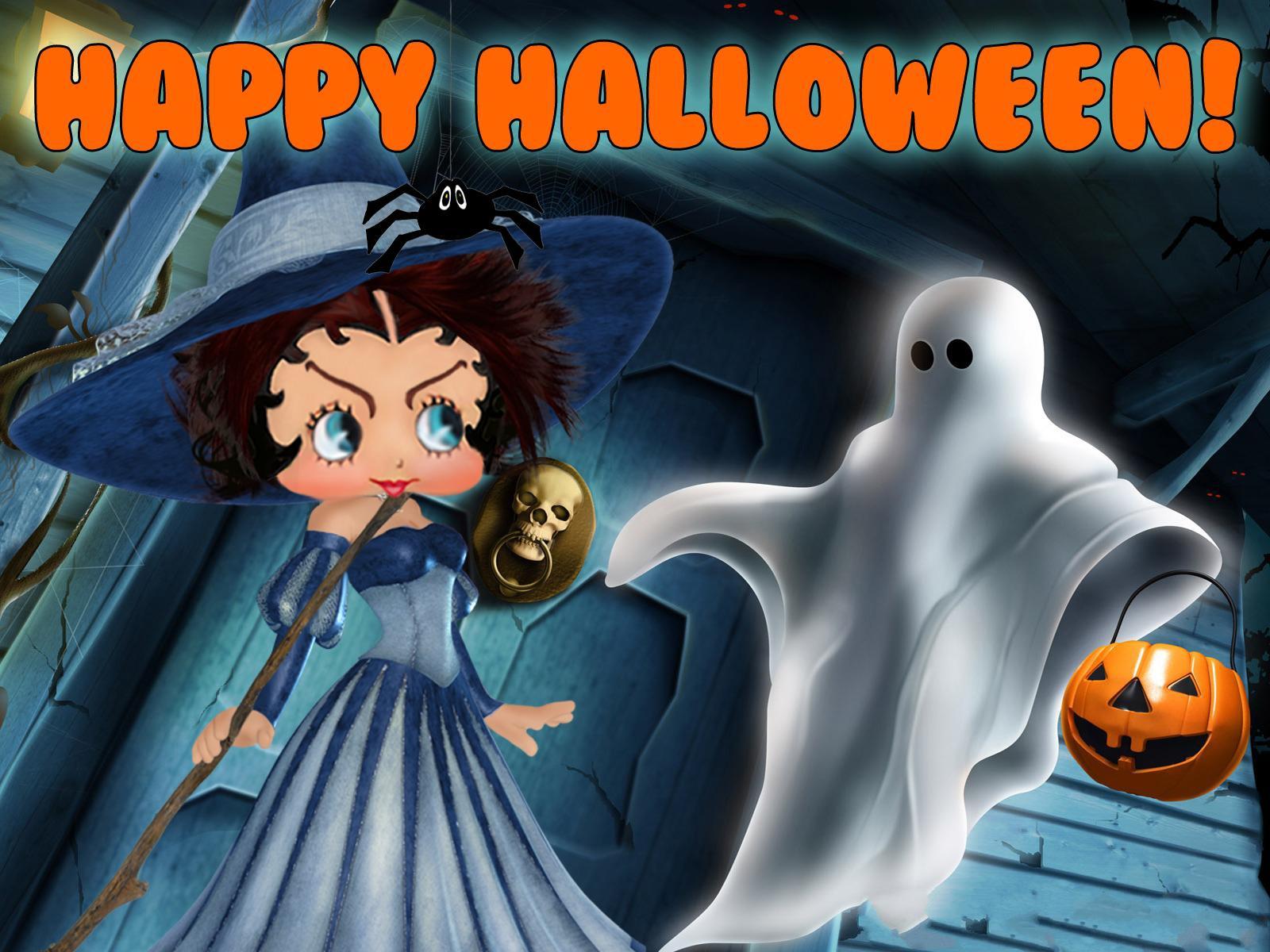 hd betty boop halloween background | pixelstalk