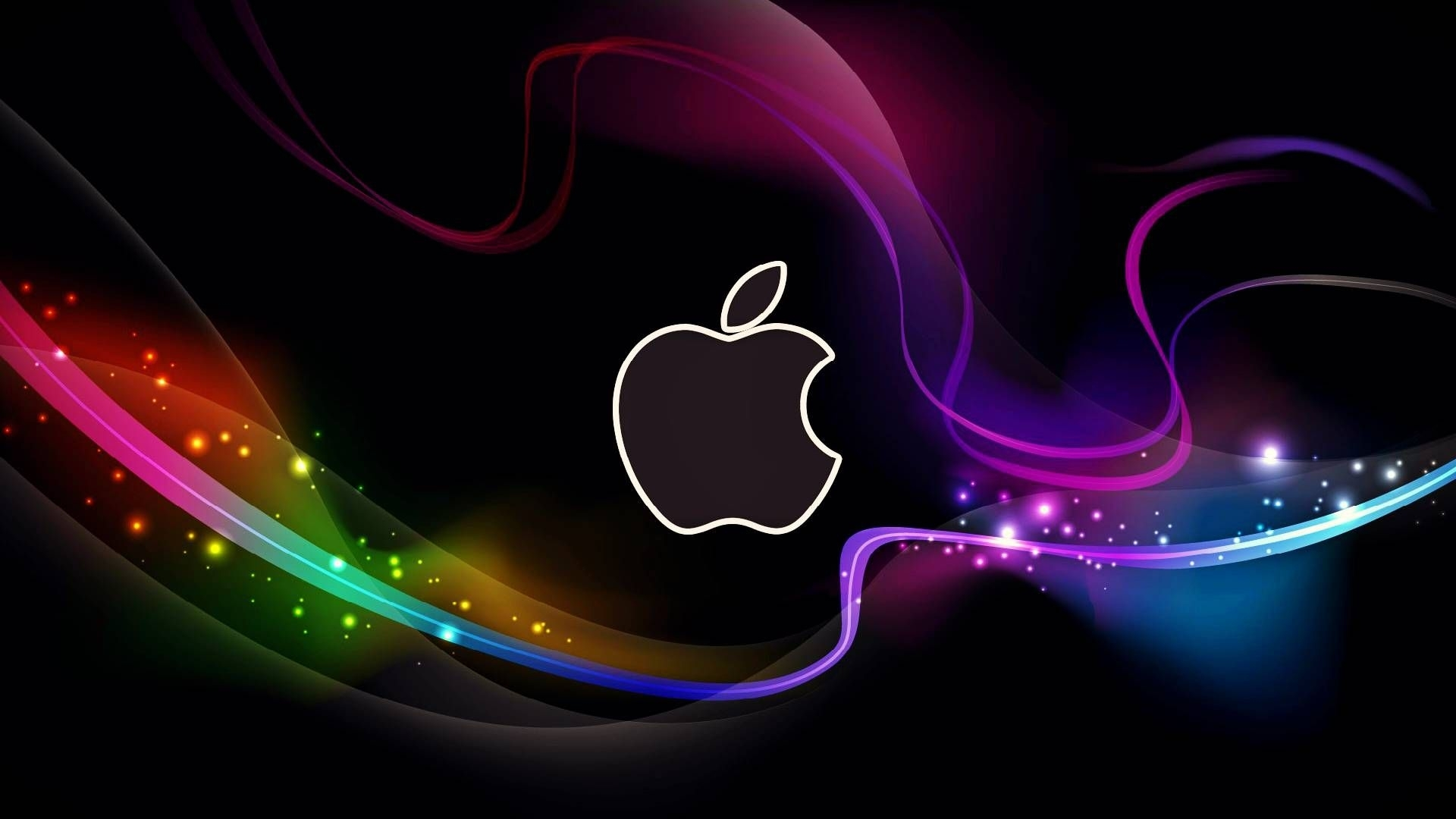 hd cool apple logo with abstract background wallpapers - hd desktop