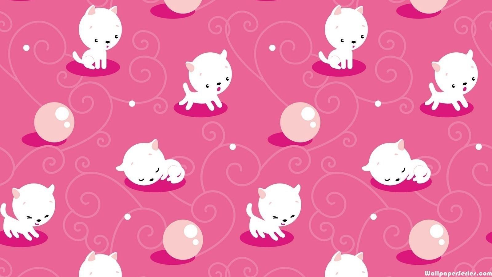 Title Hd Cute Cat Pattern Wallpaper