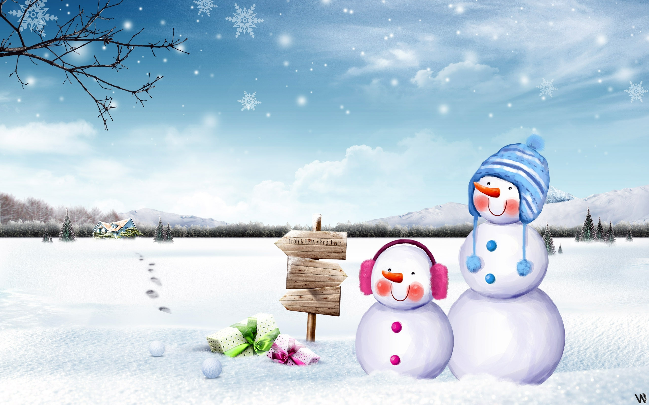 hd cute snowmen wallpaper | download free - 95769 | snowmen and